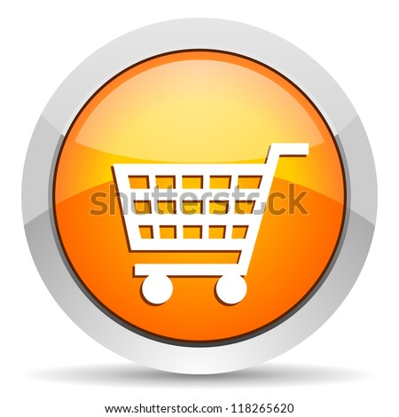 shopping cart icon - stock photo