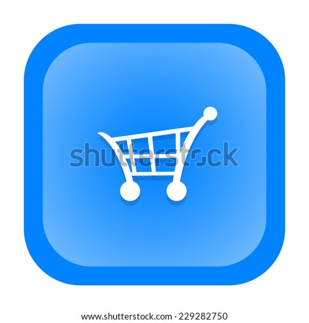 Shopping cart icon - stock photo