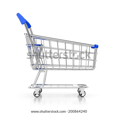 shopping cart icon. 3d illustration