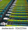 Shopping Cart in a row - stock photo