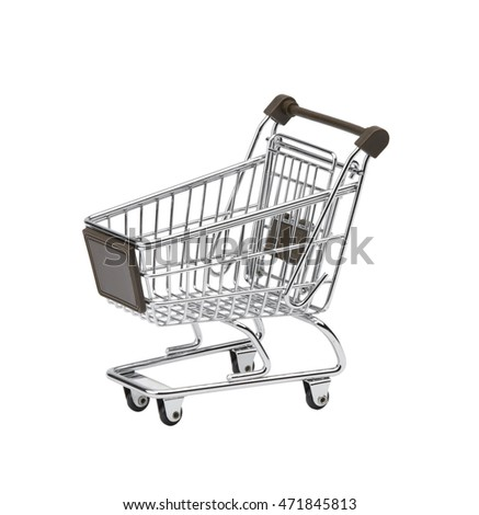 Shopping Cart Isolated, Objects with Clipping Paths