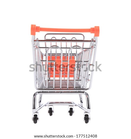 Shopping cart. Isolated on a white background.