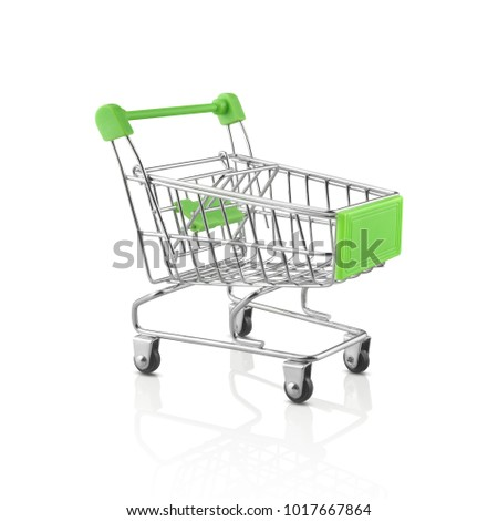 shopping cart isolated on white background. with clipping path included.
