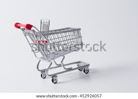 shopping cart on white