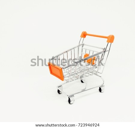 shopping cart on white background