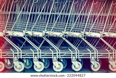 Shopping cart pattern, retro look