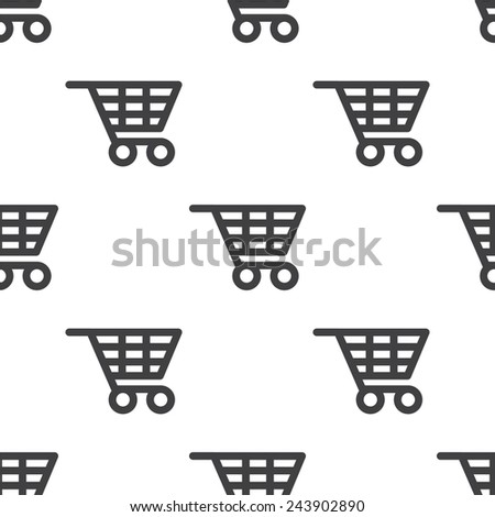 shopping cart, seamless pattern, can be used for web page backgrounds, pattern fills   - stock photo