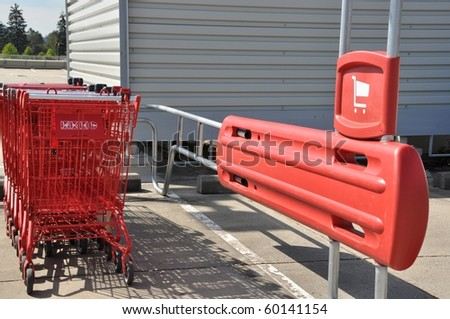 Shopping cart space - stock photo