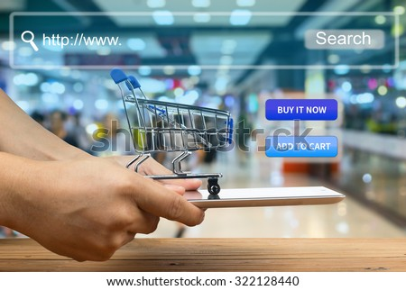 shopping cart use for add to cart or buy it now.  - stock photo