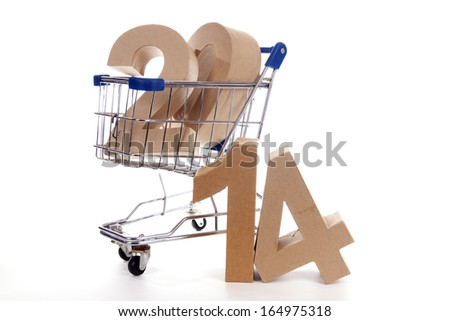 Shopping cart with products of the fall