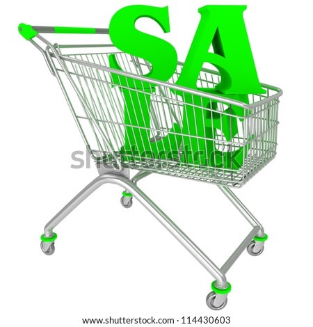 Shopping cart with sale tex