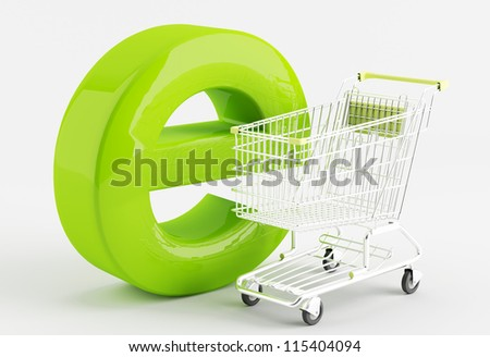 shopping carts  - the symbol of e-commerce - stock photo