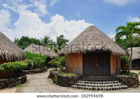 shopping center at harbor of uturoa, Raiatea, Raiatea island, french polynesia