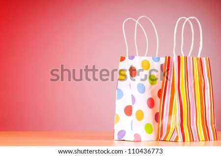 Shopping concept with bags