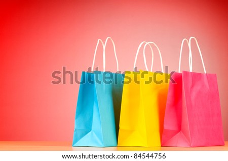 Shopping concept with bags - stock photo