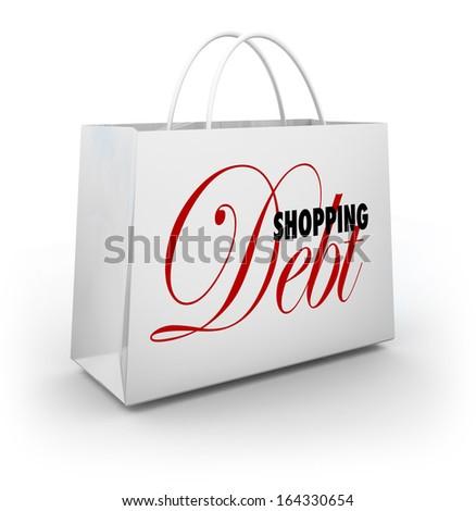 Shopping Debt Bag Credit Card Spending Money - stock photo