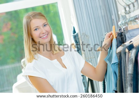 Shopping for a new outfit - stock photo