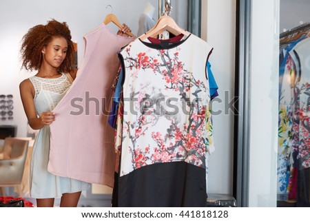 Shopping for something special - stock photo