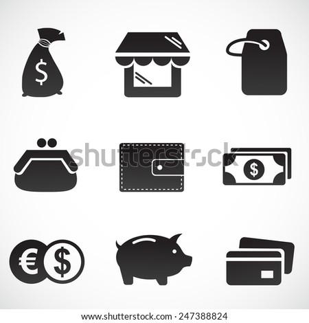 Shopping icon set. - stock photo