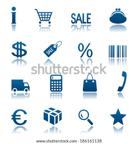 Shopping icon set. Raster version - stock photo