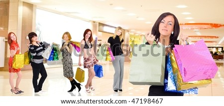 Shopping in a mall