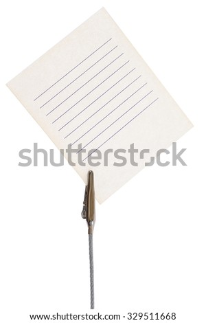 Shopping list on a white background - stock photo