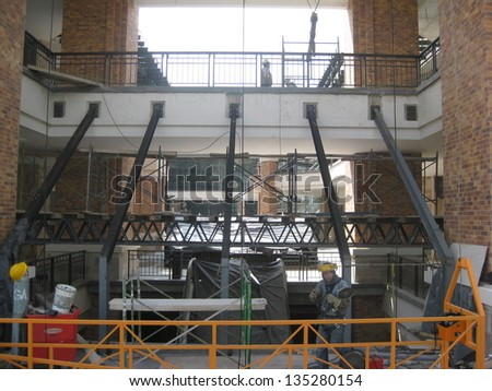 Shopping mall construction site