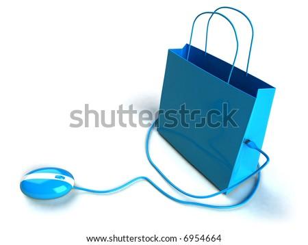 Shopping online - stock photo