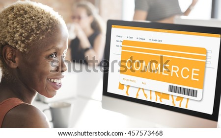 Shopping Online Order Purchase Buying Concept - stock photo