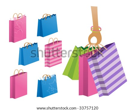 shopping or gift bags. high res JPG