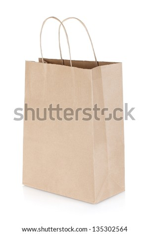 Shopping paper bag. Isolated on white background