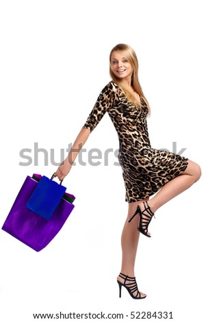 Shopping pretty woman - stock photo