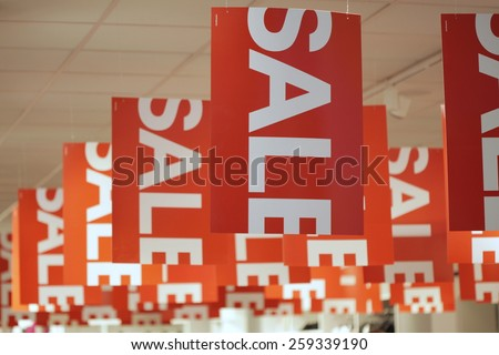 shopping sale background - stock photo