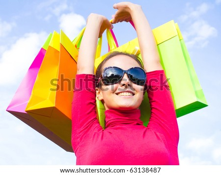 Shopping Spree Frenzy!!! - stock photo