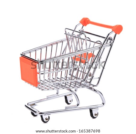 Shopping supermarket cart. Isolated on a white background.