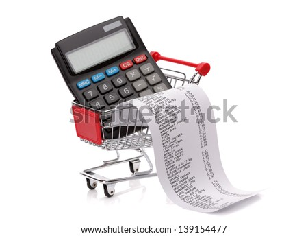 Mechanic Invoice Software Invoice Bill Stock Images Royaltyfree Images  Vectors  True Car Invoice with Missing Receipt Affidavit Shopping Till Receipt Calculator And Cart Concept For Grocery Expenses And  Consumerism Invoice Models Word