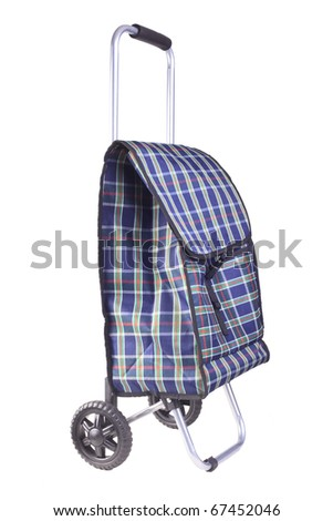 shopping trolley bag - stock photo