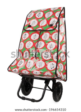 shopping trolley bag isolated on white background - stock photo