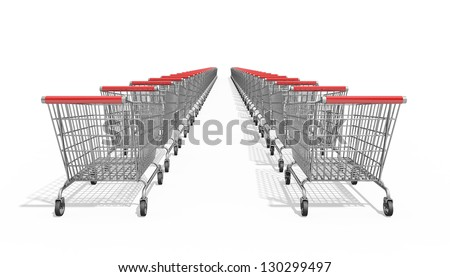 Shopping Trolley on a white background