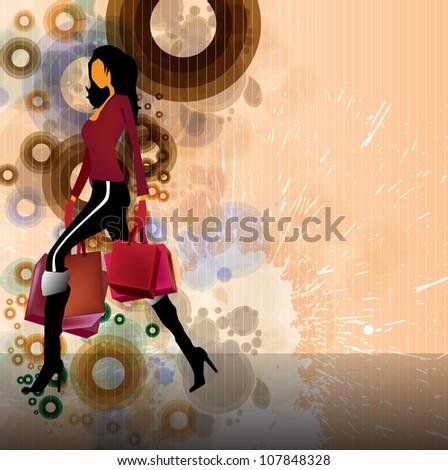 Shopping woman - stock photo