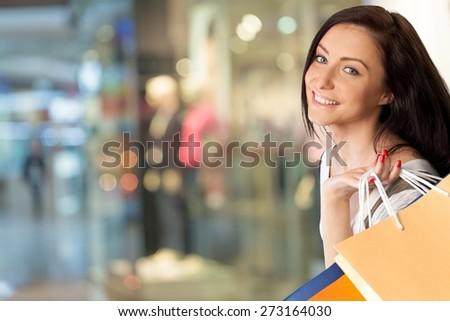 Shopping, Women, Retail. - stock photo