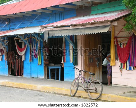 shops in Nicaragua - stock photo
