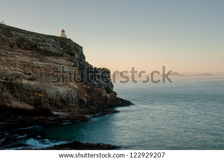 Shore and lighthouse at Dunedin, South Island, New Zealand
