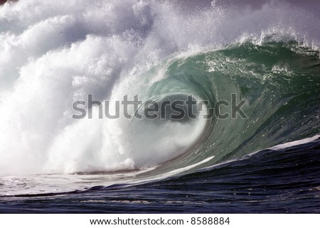 shore break wave - stock photo