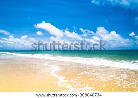 Shore Landscape On a Beach  - stock photo