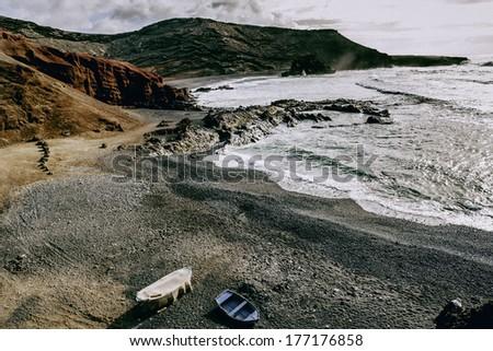 Shore Lanzarote - stock photo