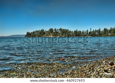 Shore of Flathead Lake in northwestern Montana
