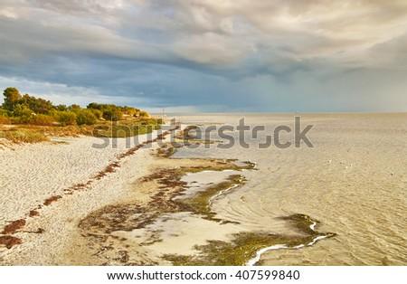 Shore of the Baltic Sea. Puck bay  - stock photo