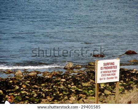 Shoreline at Montauk Point State Park - stock photo