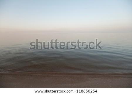 Shoreline of lake - stock photo